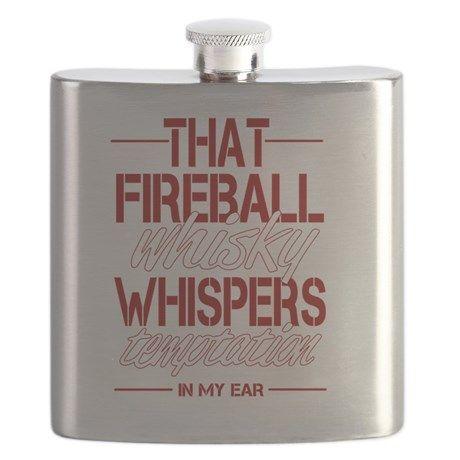 Fireball Whisky Flask on CafePress.com
