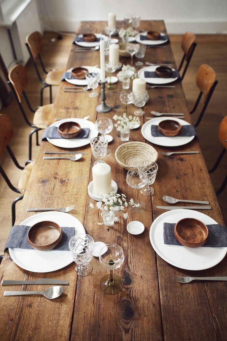 Table Setting I Schlicht Schon I Weiss Grau Holz I Tischdeko I