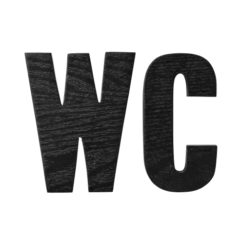 Photo of Bloomingville wooden letters WC 2-pack from Bloomingville – NordicNest.com