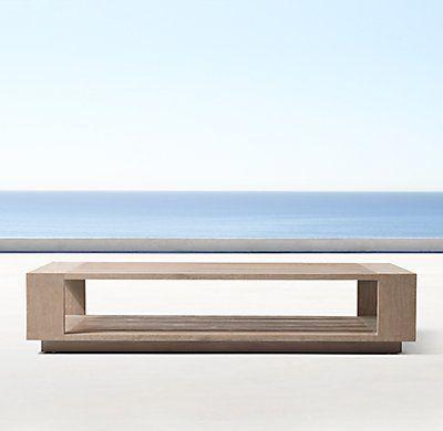 Massimo Teak Coffee Table | Teak coffee table, Stone coffee table, Coffee table restoration hardware