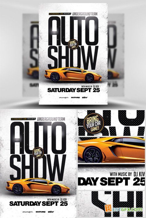 Flyer Template - Auto Show Psd Pinterest Flyer template - car flyer template
