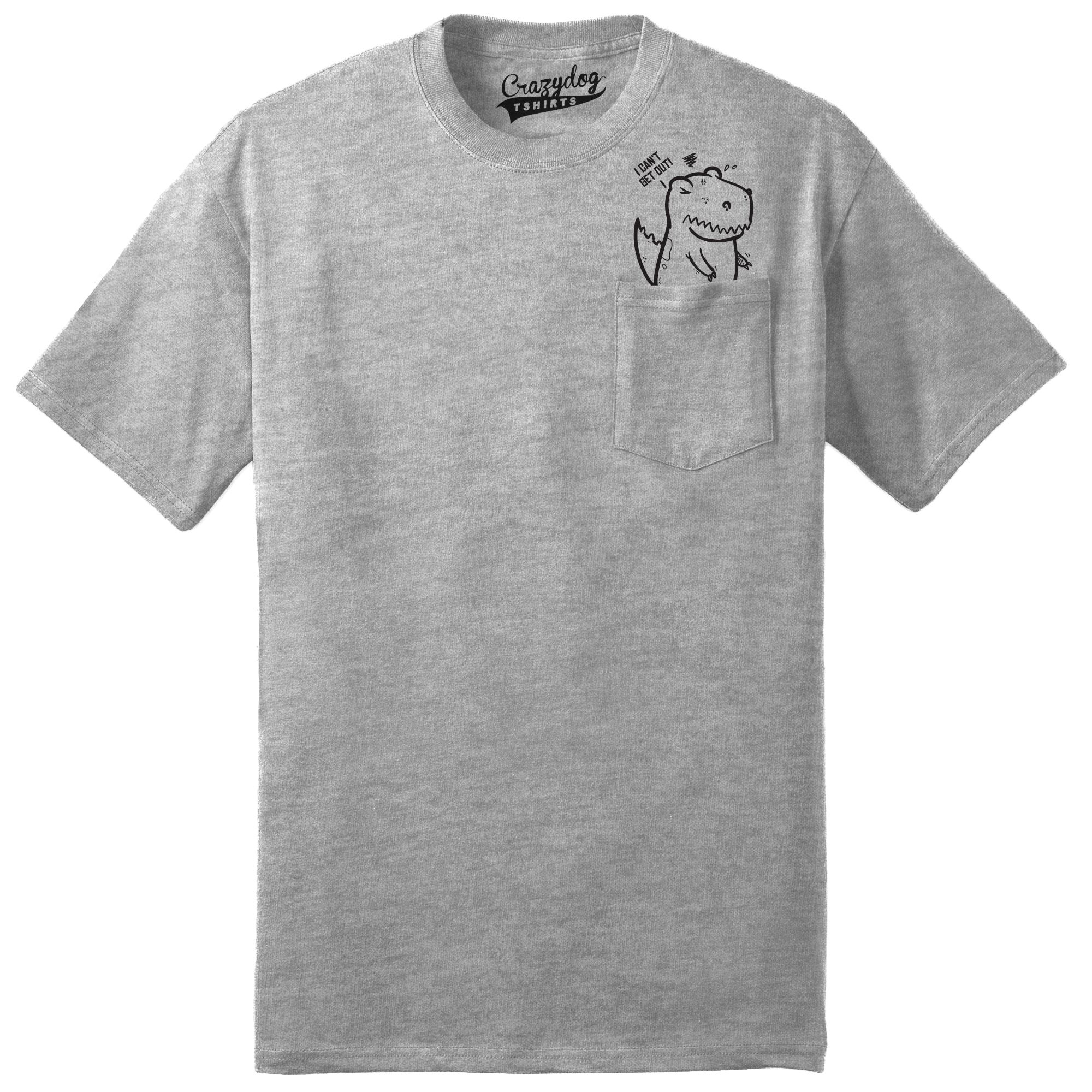 735726d522a7 Mens Pocket T rex Funny Dinosaur Peeking T shirt | ∆ style ∆ | Pug ...