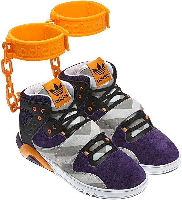 ... Jewish person feel if you put a swastika on a shoe?' Adidas under fire  for unveiling new trainer with orange 'shackles' like those worn by black  slaves