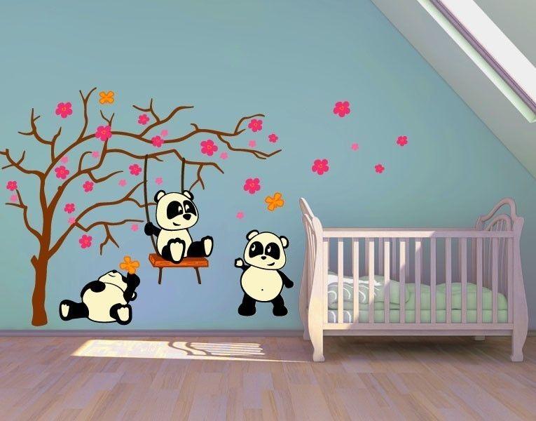 Babyzimmer Wandsticker ~ Wandsticker pandafreunde wandtattoos kinderzimmer wandsticker