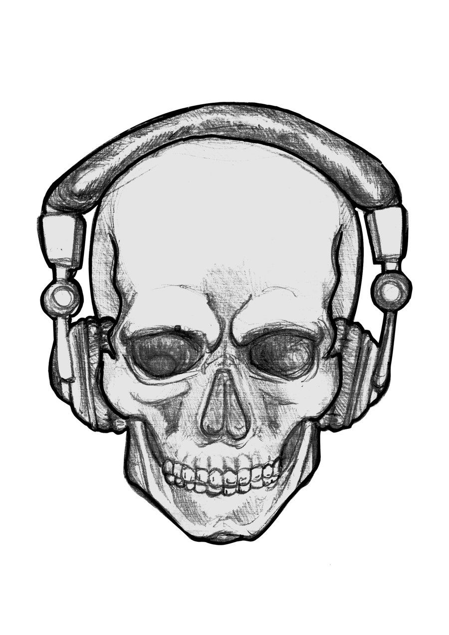 People With Headphones Drawing Clipart Best