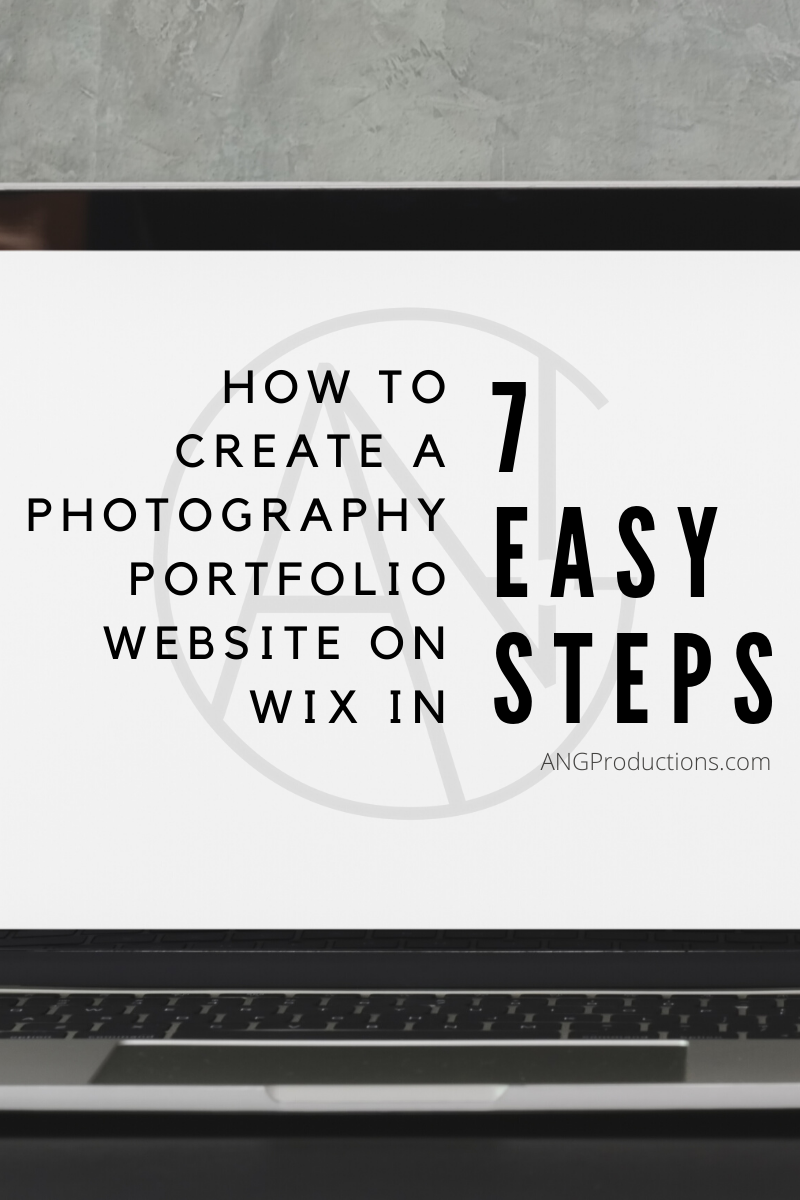 How to Create a Photography Portfolio Website on Wix in 7