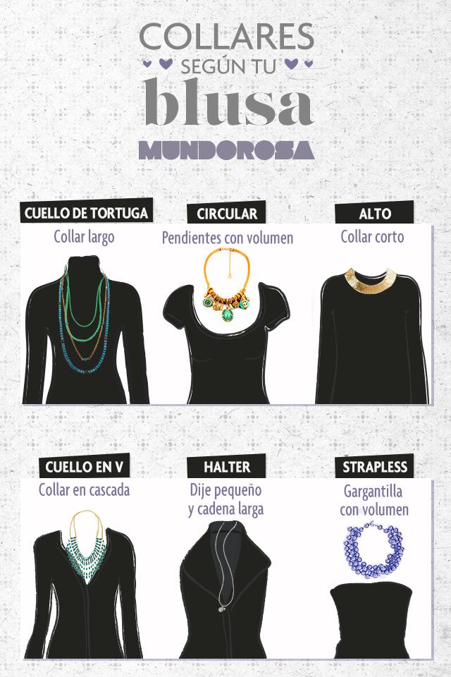 af7193157038 Guía de collares según el estilo de tu blusa.