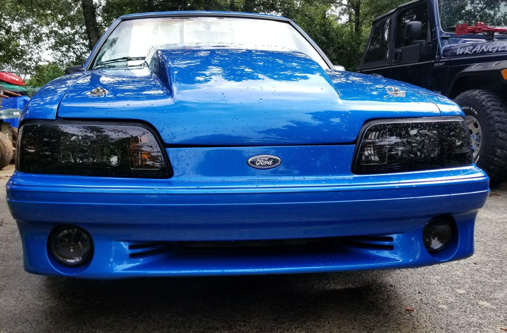 1990 Mustang LX 5 0 Hatchback With GT front bumper   blue
