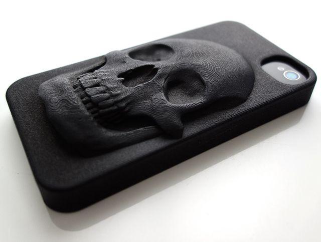 3D Printed Skull iPhone Case (High Detail) by Hugo Arcier