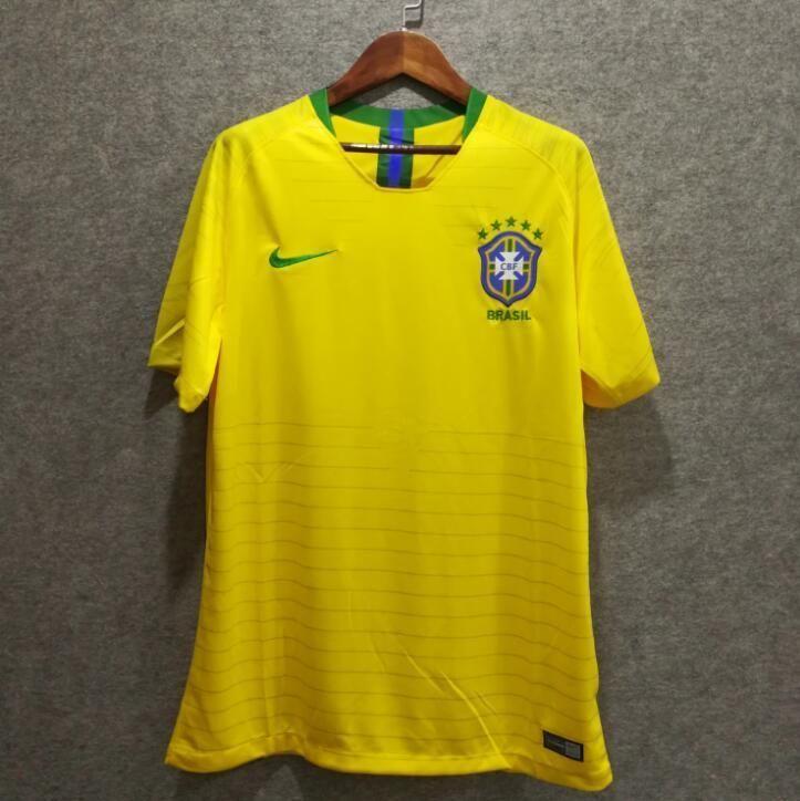 4842549ac 2018 Men Brazil Jersey Stadium Home Soccer Jersey World Cup Jersey Fanatics