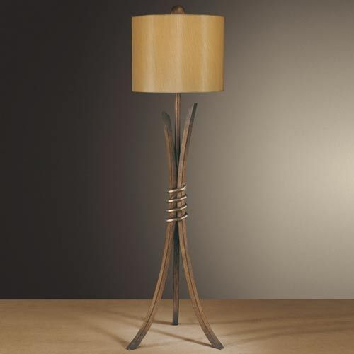 For the console Belcaro Walnut Console Lamp