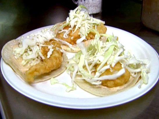 La fondita fish tacos recipe fish tacos tacos and for Food network fish tacos