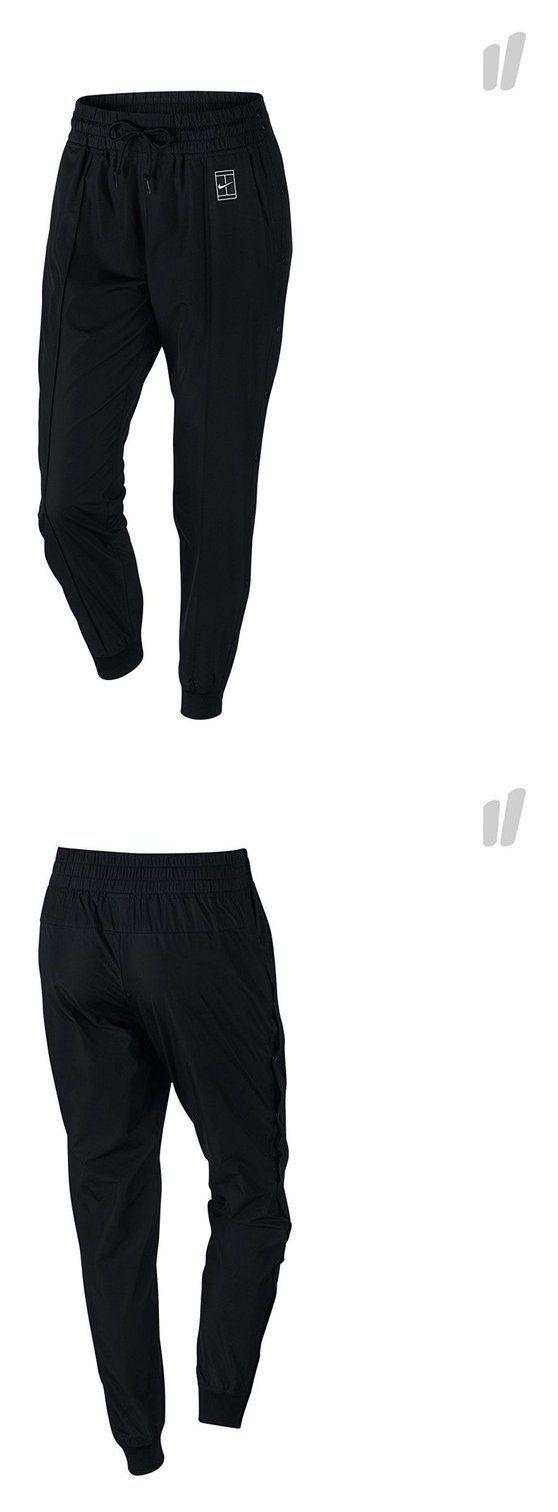 Nike Pants Women Court Tennis Woven Snap-Off Pant - Size Medium Black  802602 010