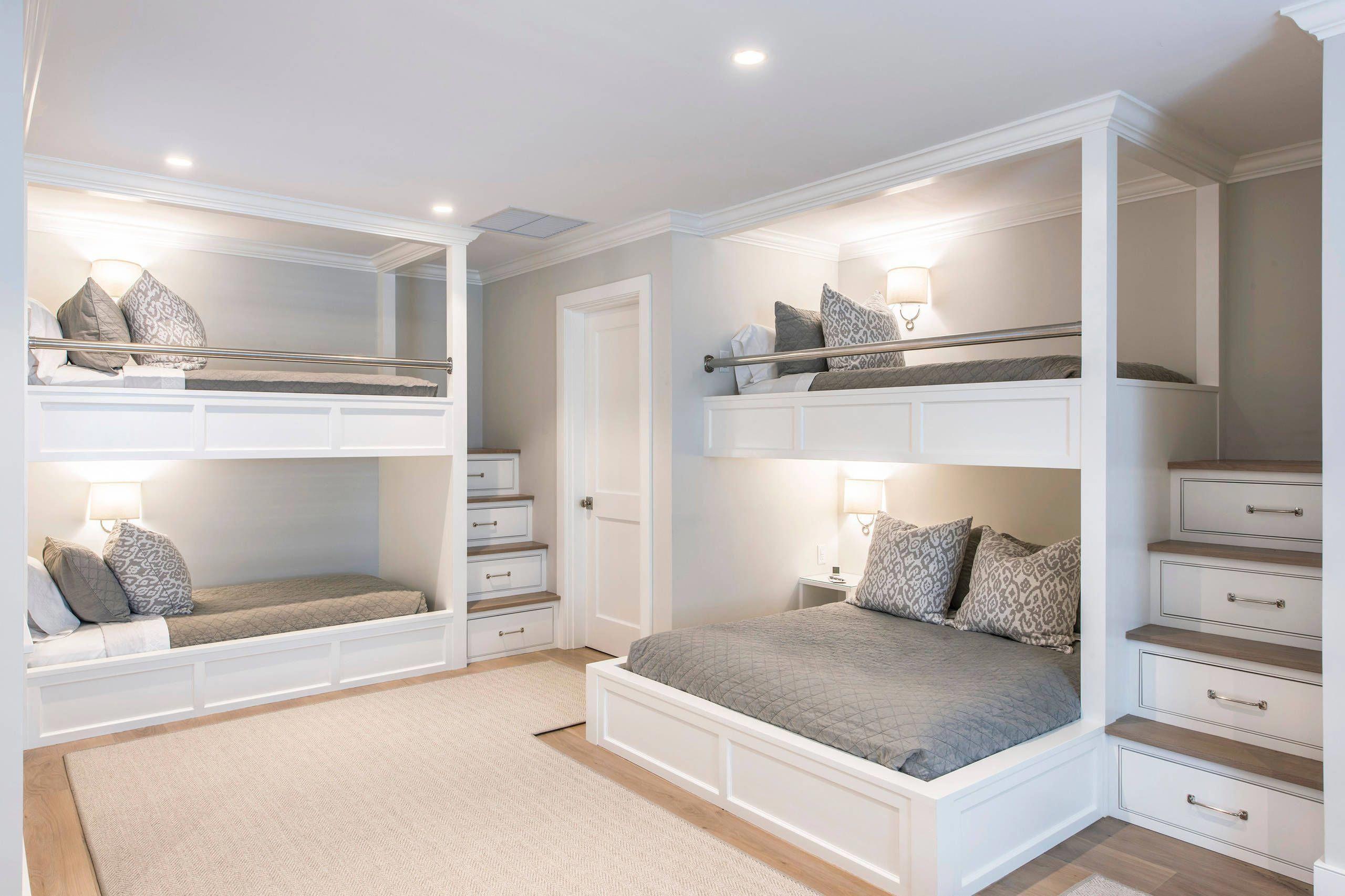 Basement Bunk Room Twokidbedroomideas Bunk Beds Built In Bunk Bed Designs Bedroom Design