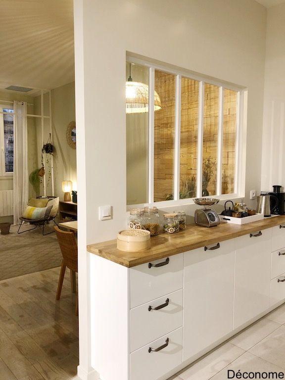 L Appart Leroy Merlin Verrière Entre Salon Et Cuisine Mutfak Tasarımları Iç Tasarım Mutfak Ev Iç Tasarımı