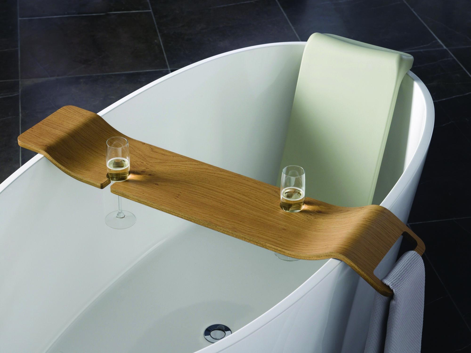 7 Of The Trendiest Bathroom Accessories Interiors Addict Bathtub Caddy Bunnings