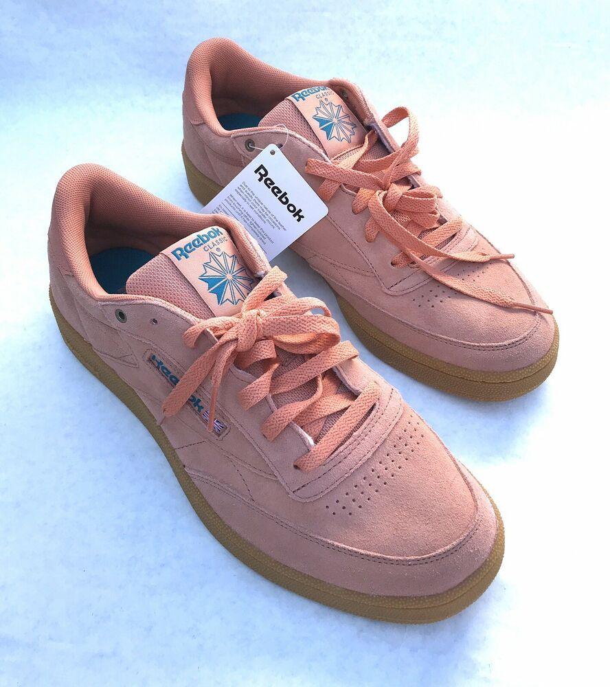 Maestría sobras colina  New Mens Reebok Classic Genuine Suede Pink Rose Gold Club C 85 Sneakers  Size 11 #Reebok
