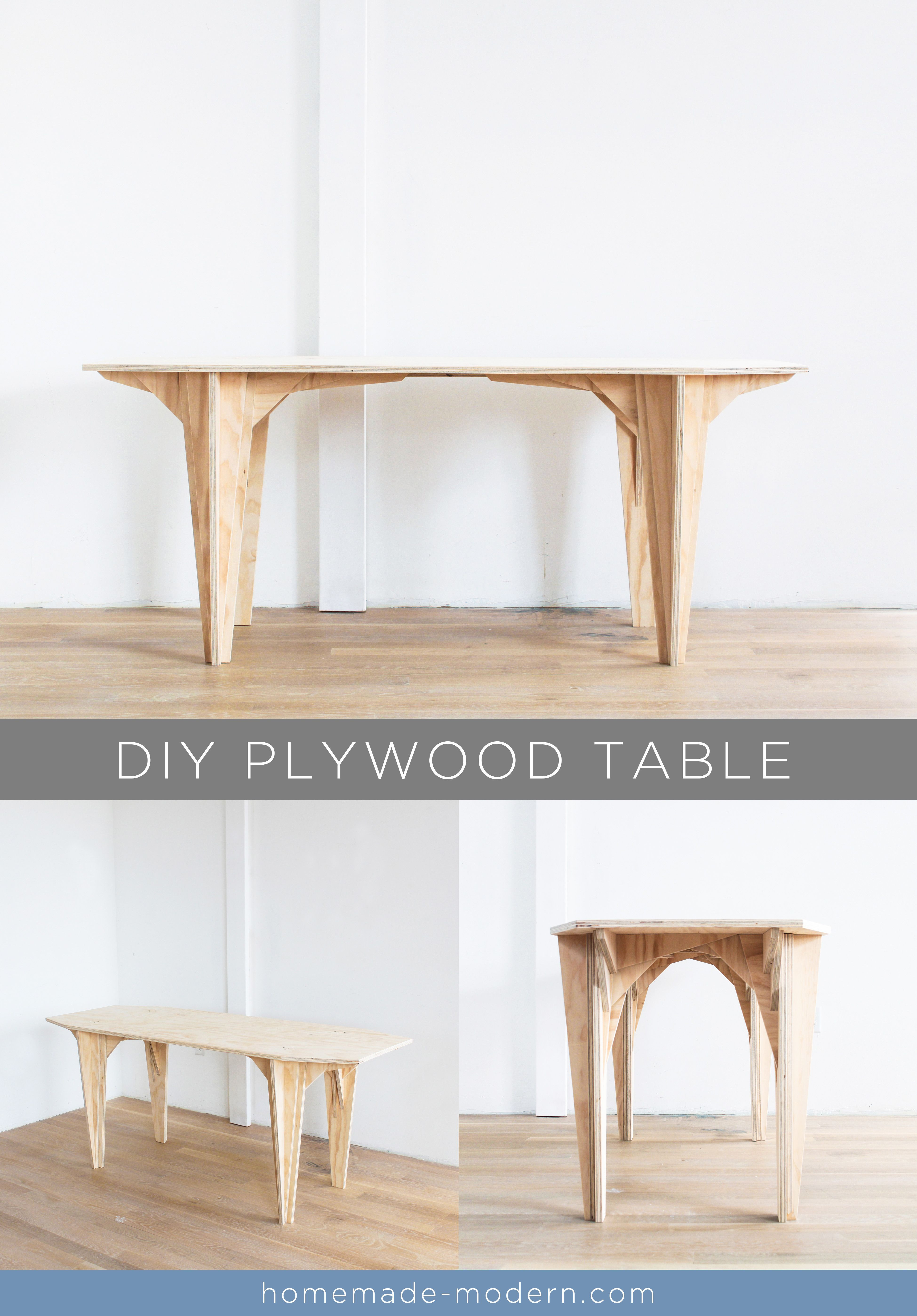 This Diy Plywood Table Is Made Out 190 Plywood From Home