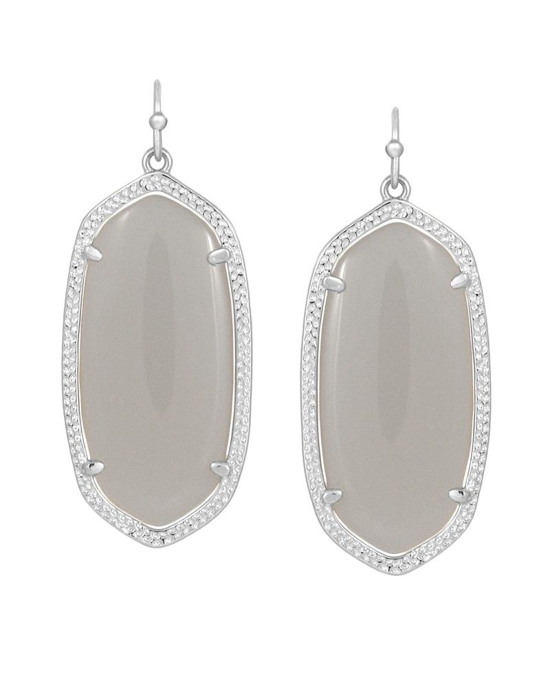 48b6a6844 Elle Silver Earrings in Slate - Kendra Scott Jewelry | Bracelets ...