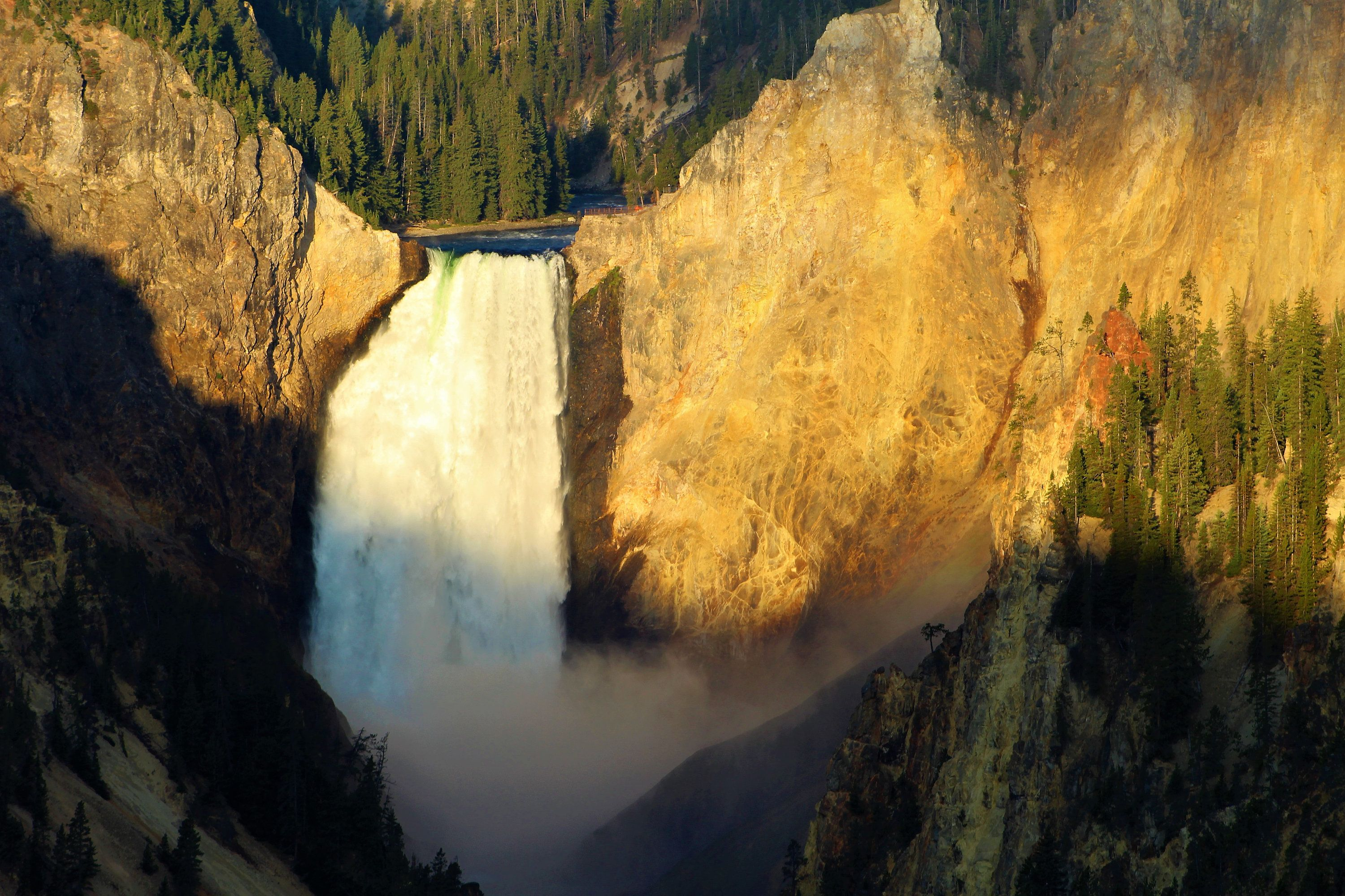 Sunrise at Lower Falls in Yellowstone National Park