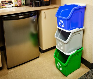 Multi Recycler Recyling Bin Indoor Recycling Waste Container Stackable Bins Busch Systems