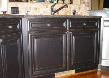 Best Kitchen Cabinets Black Distressed Sinks Ideas # ...