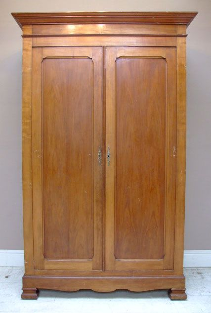 Cherry Armoire Wardrobe Antique French Louis Philippe Style