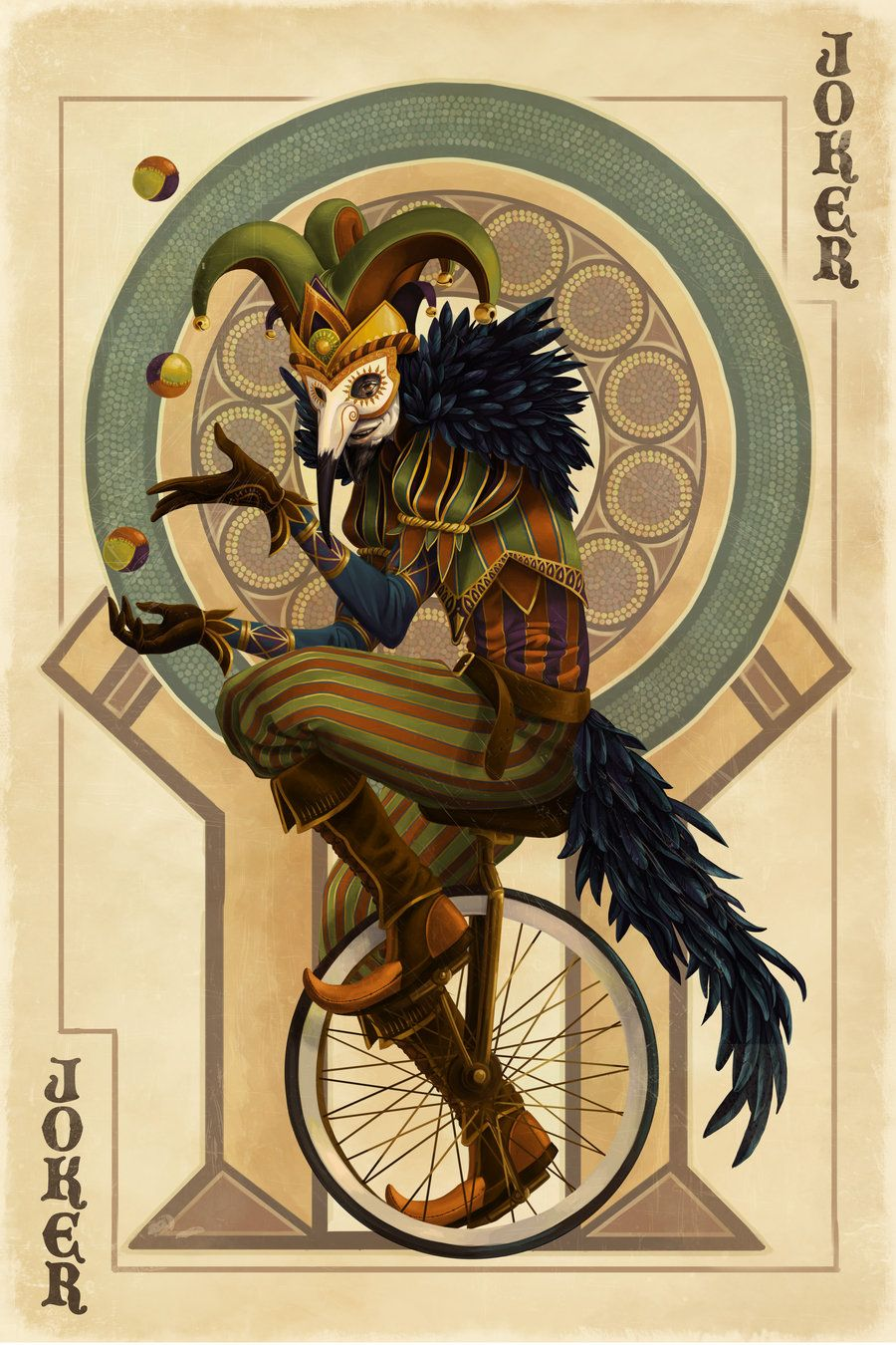 Joker Card by Chronoperates.deviantart.com #piel #shoppiel #inspiration