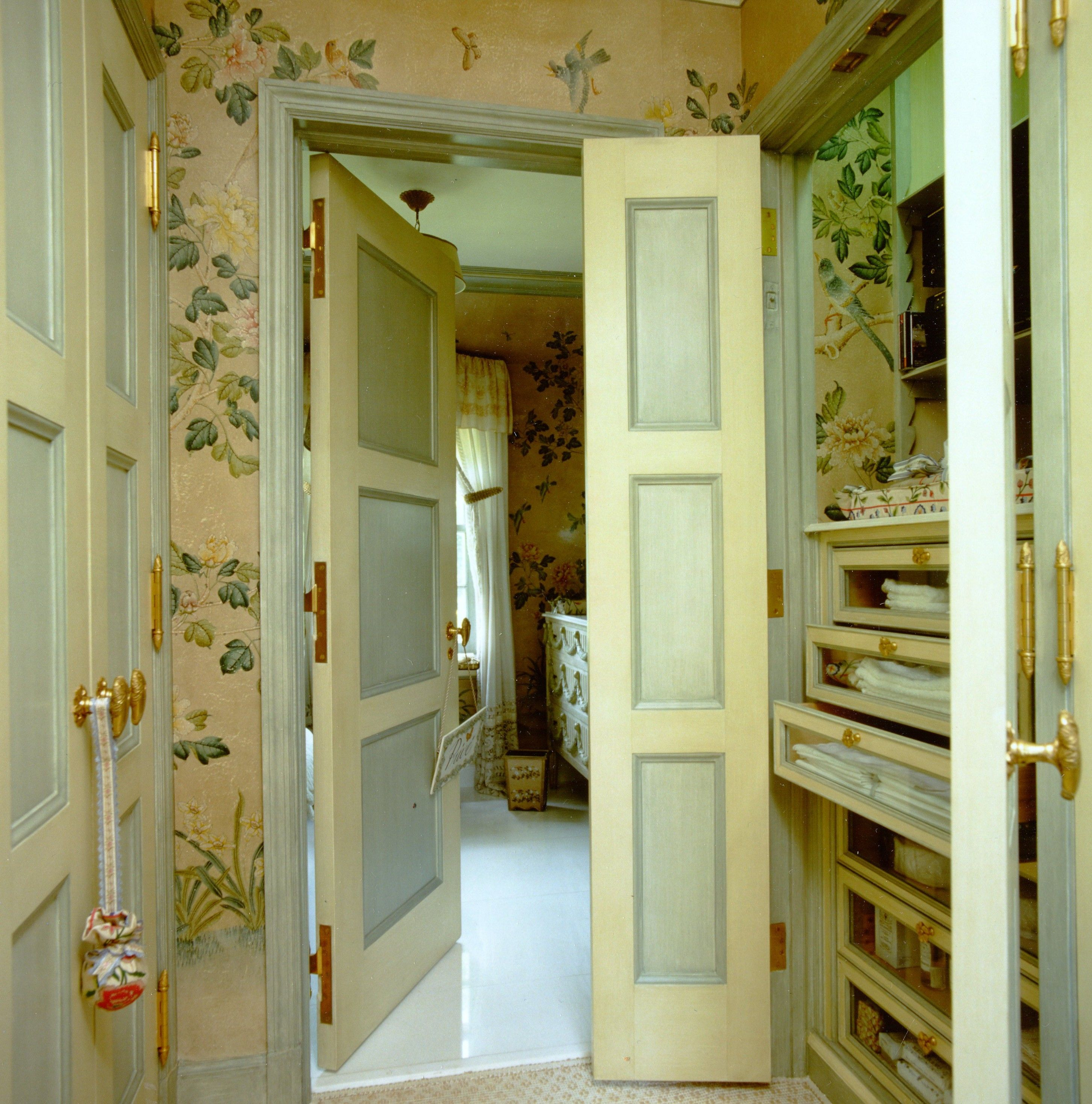 A vestibule leading to a guest bathroom was turned into