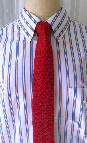 Knit Necktie Pattern By Laurie Gonyea Pinterest Stitch Necktie