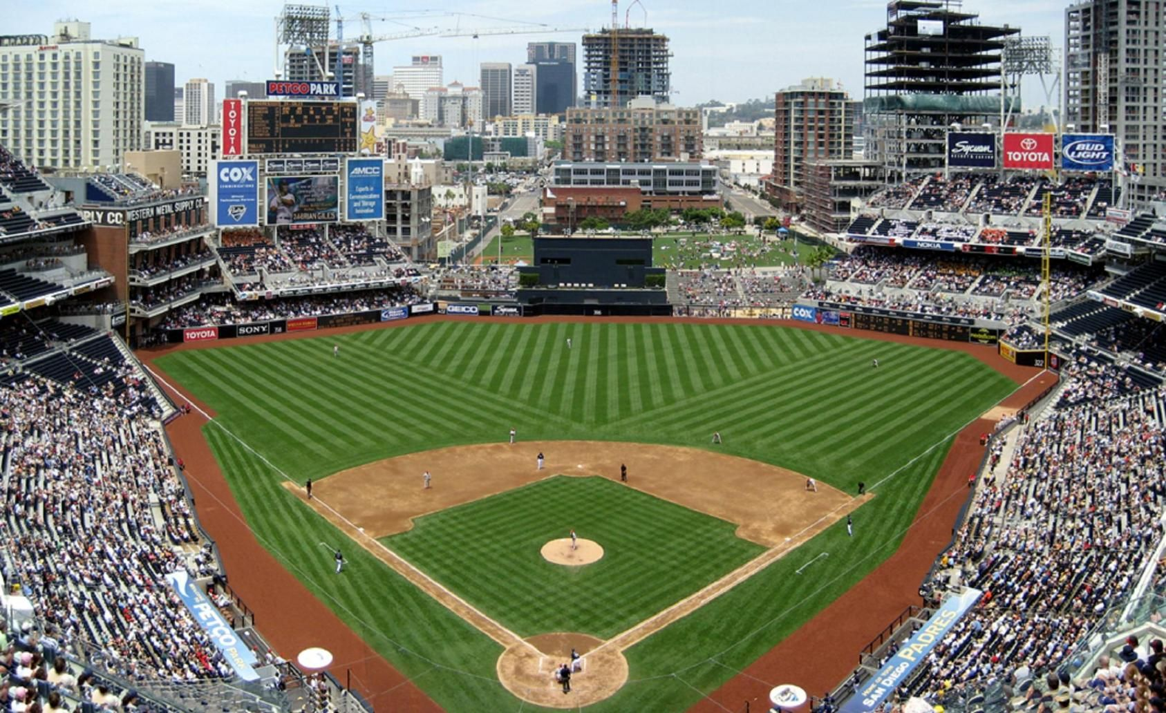 Petco Park In San Diego Home Plate View Petco Park San Diego Houses Mlb Stadiums