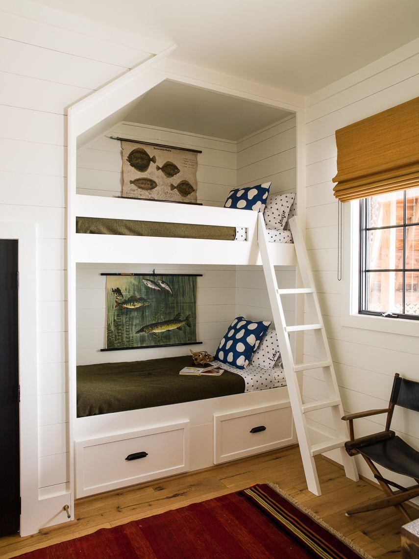 Upstairs built in bunks