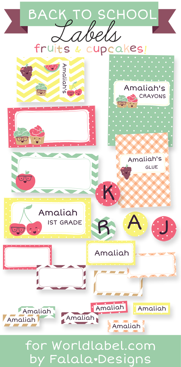 School Labels on Pinterest | Kindergarten School Supplies, Owl Name ...