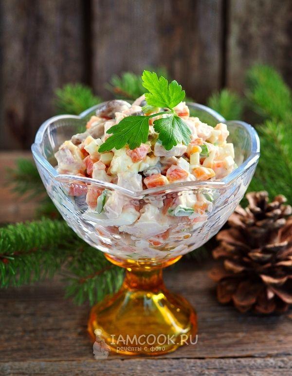 Салат с копченой курицей и плавленным сыром | Рецепт ...