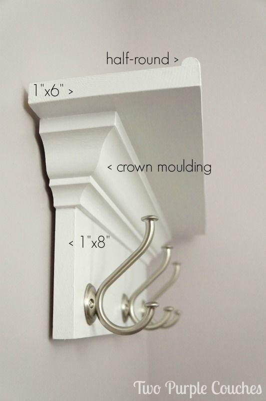 How To Make A Wall Shelf With Hooks Wall Shelf With Hooks Diy Wall Shelves Diy Wall Decor