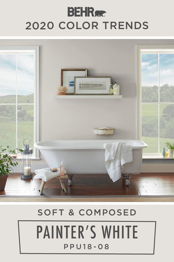 Soak Up The Farmhouse Style Of This Light Beige Wall Featured In This Beautiful Bathroom You Can Eas In 2020 Beige Walls Behr Paint Colors Bathroom Paint Colors Behr