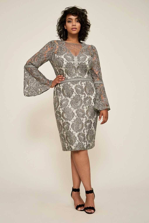 8363de84084 Платье мечта. Коктейльное кружевное платье Plus size Tadashi Shoji  BGC17735MQ