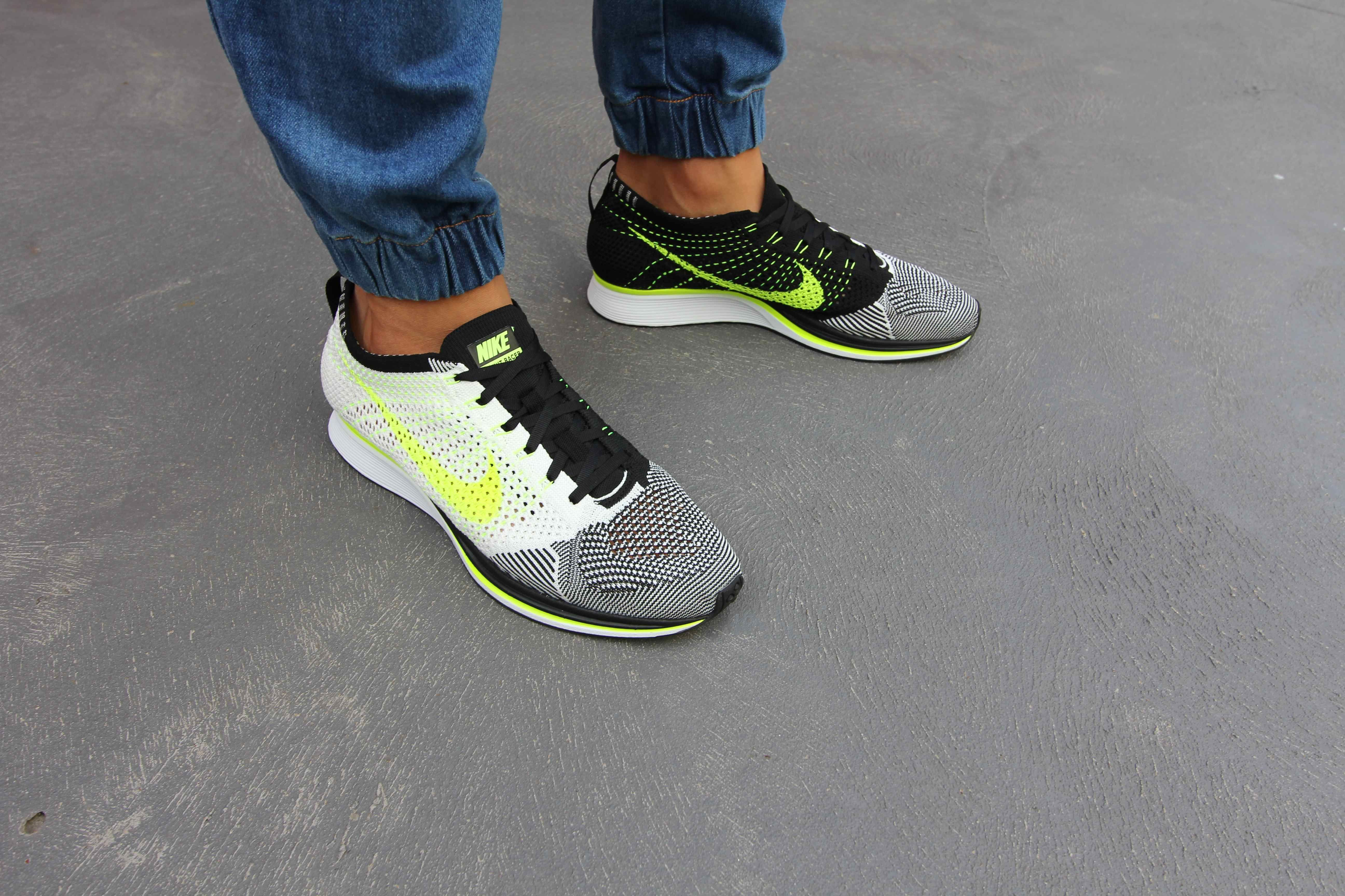 cheap for discount 6ef86 a9c88 Mens fashion Nike Flyknit Racer, SailBlackVolt For MORE mens fashion in  street style ...