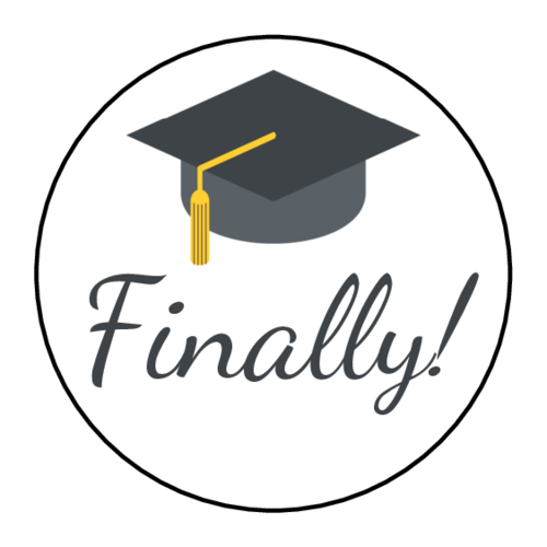 """Photo of Enhance your graduation party, thank you note, and more with this """"Finally!"""" pri…"""