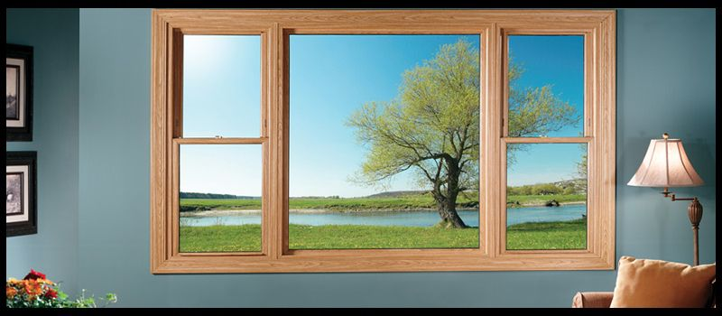 Double Hung Windows Flanking Fixed Pane For The Home