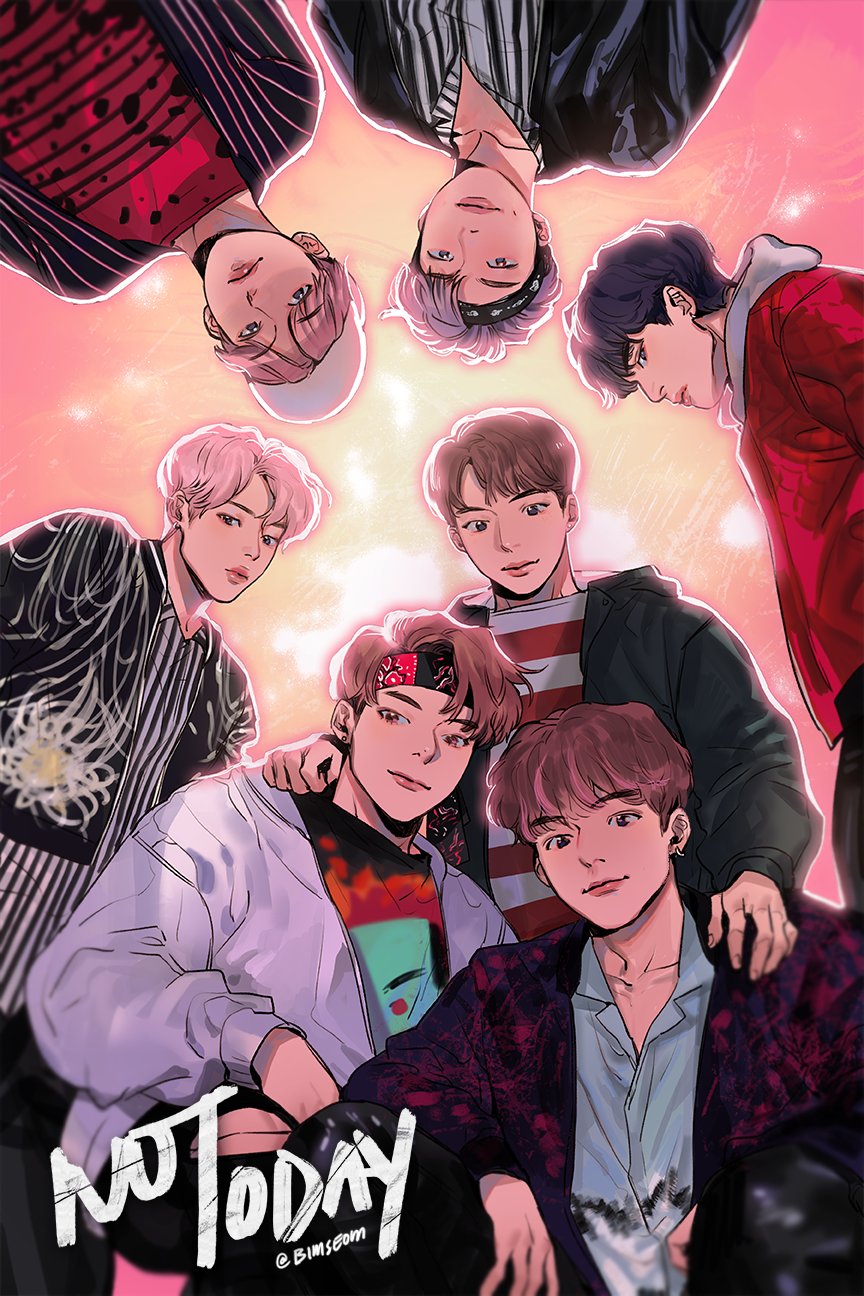 BTS Fan Art spicybara spring day, not today Fanart