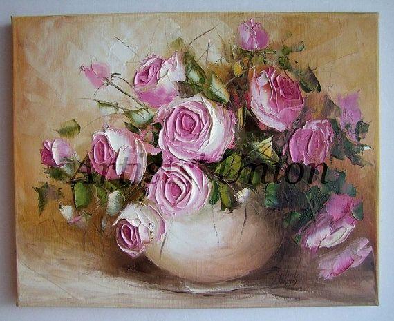 Pink White Magnolias Blue Vase Painting Rpsen