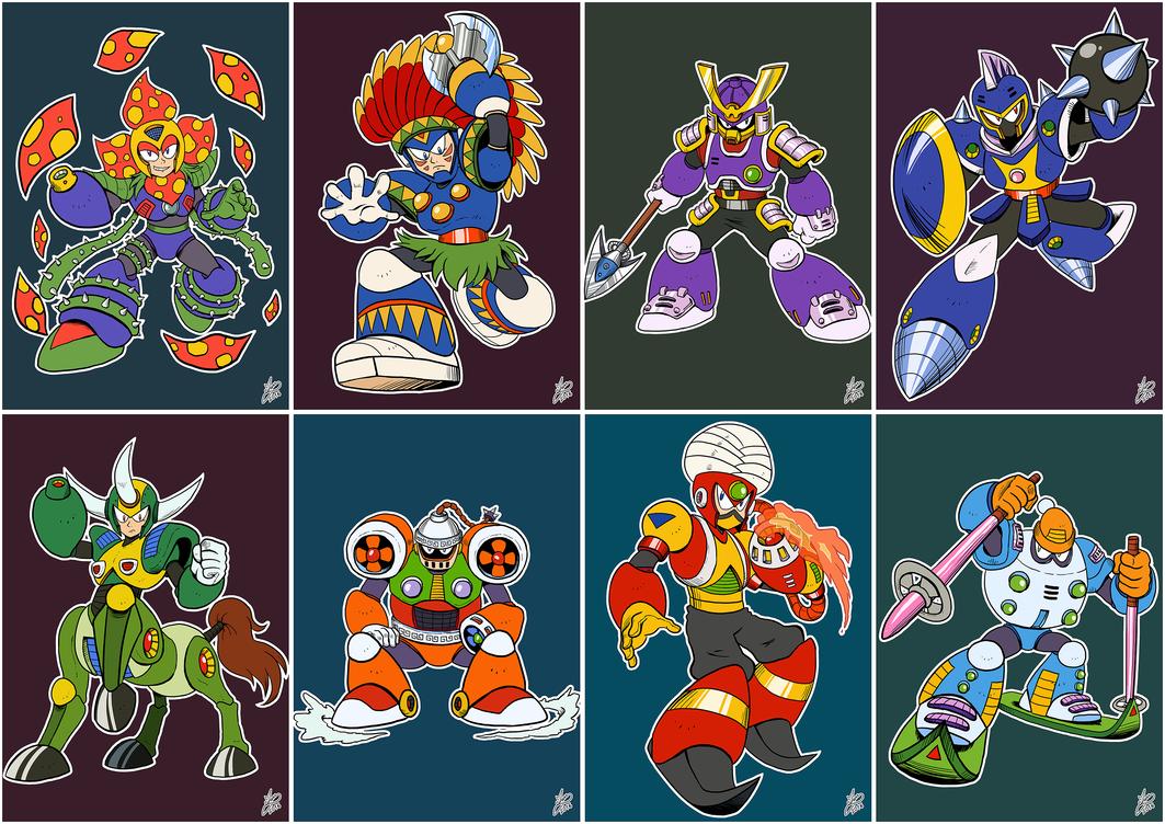 Daily Rockman Rockman 6 Robot Masters By Iandimas Mega Man Pg 3
