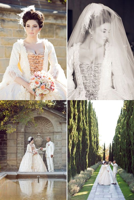 A fabulous real-life Marie Antoinette themed wedding - so inspiring ...