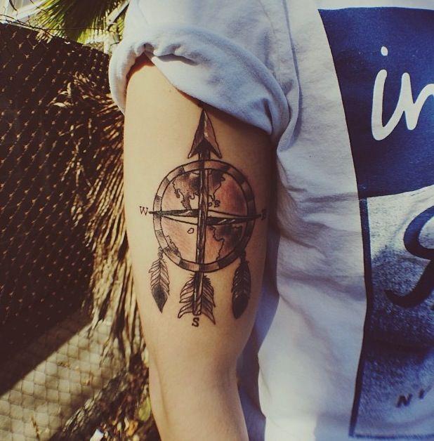 Rosa dos ventos, mapa mundi e dream cacther. Jc Caylens Tatto