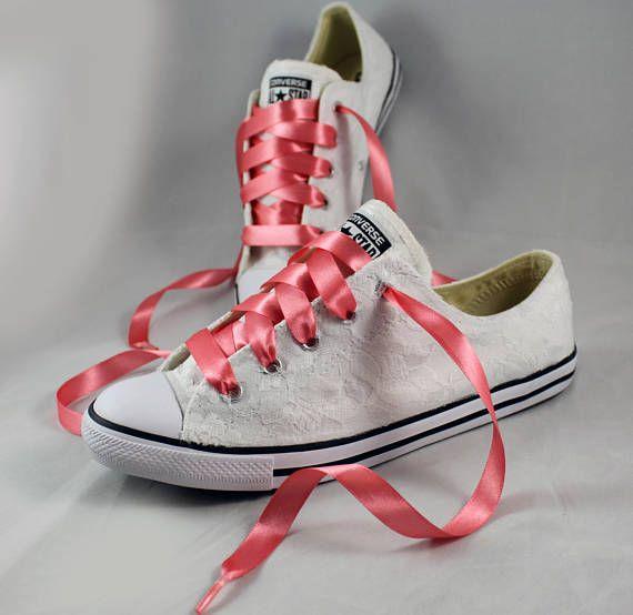 2e1fd86711a79 Bridal Converses Lace Converse Wedding Tennis shoes | LET'S SNEAK ...