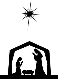 image relating to Nativity Silhouette Printable identified as Printable Nativity Silhouette Picket burning 3 Nativity