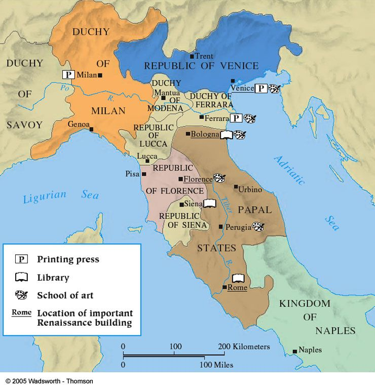 Italian City States Map Renaissance Italy city states (With images) | Italy map