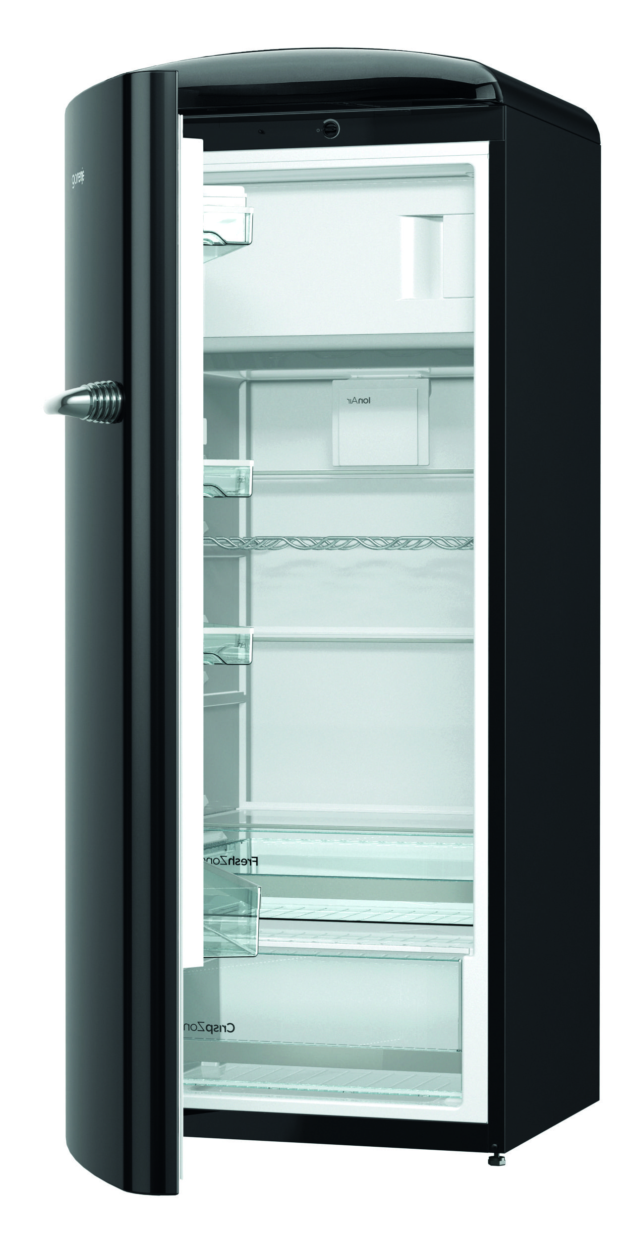 Gorenje Retro Orb153Bk L Refrigerator  Black  Cut Out Open