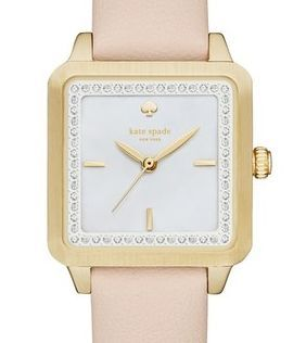Elegant and classy - love the square face to this Kate Spade watch!